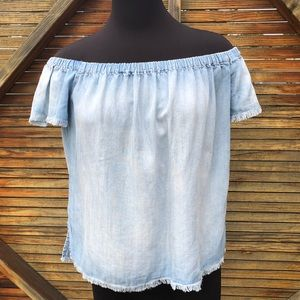 Anthropologie by Stone & Cloth Chambray Top, S